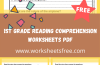1st Grade Reading Comprehension Worksheets pdf