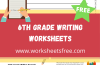 Printable 6th Grade Writing Worksheets