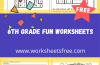 6th Grade Fun Worksheets
