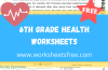 6th Grade Health Worksheets
