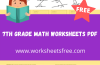 7th grade math worksheets pdf
