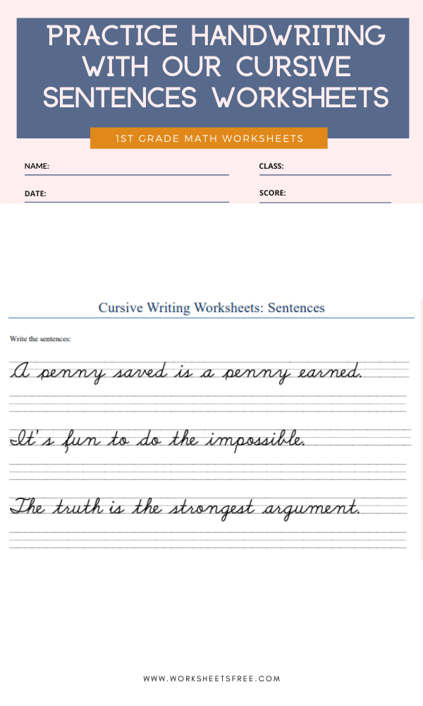 Practice-handwriting-with-our-cursive-sentences-worksheets Worksheets Free